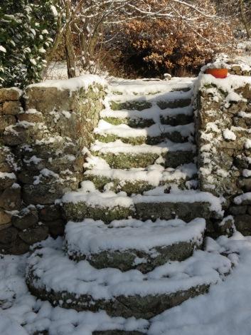 Garden steps at Morlanche