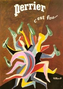 Villemot poster for Perrier
