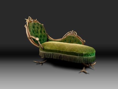 4 meridienne verte - sofa