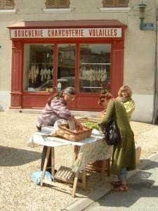 The egg lady - Lamastre market (B Reed)