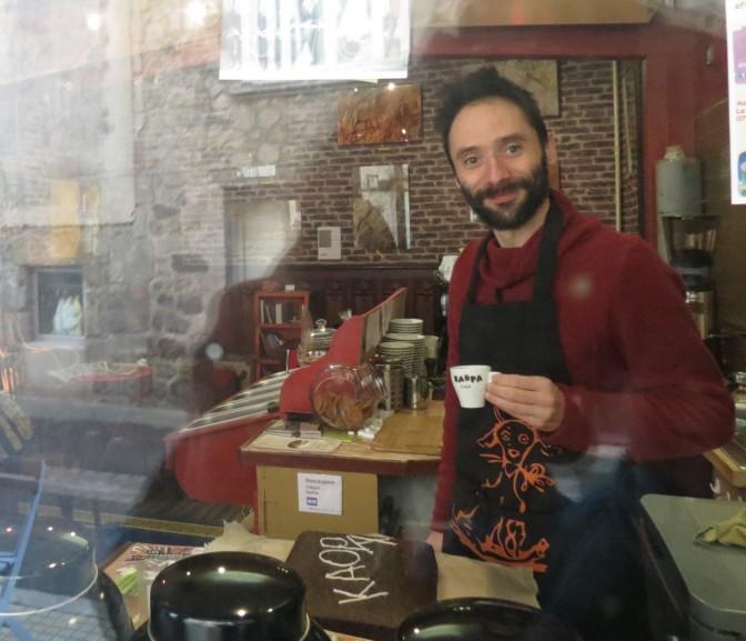 Laurent at Kaopa Café