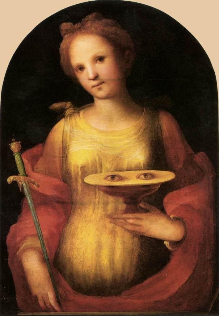 St Lucy by Domenico di Pace Beccafumi